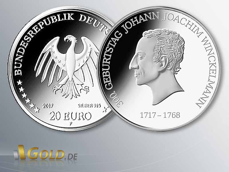 20 Euro Silber Gedenkmünze 300 Geburtstag Johann J Winckelmann