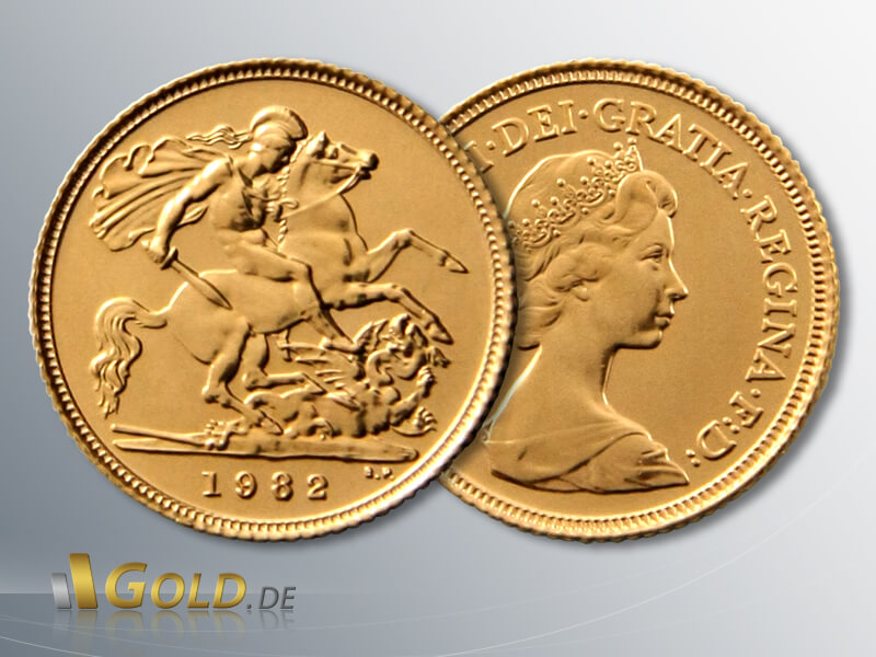 Sovereign 1 Pfund Gold 1982