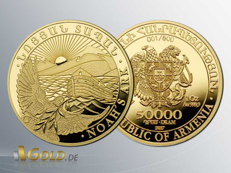 Arche Noah 2017 Proof 1 oz Goldmünze