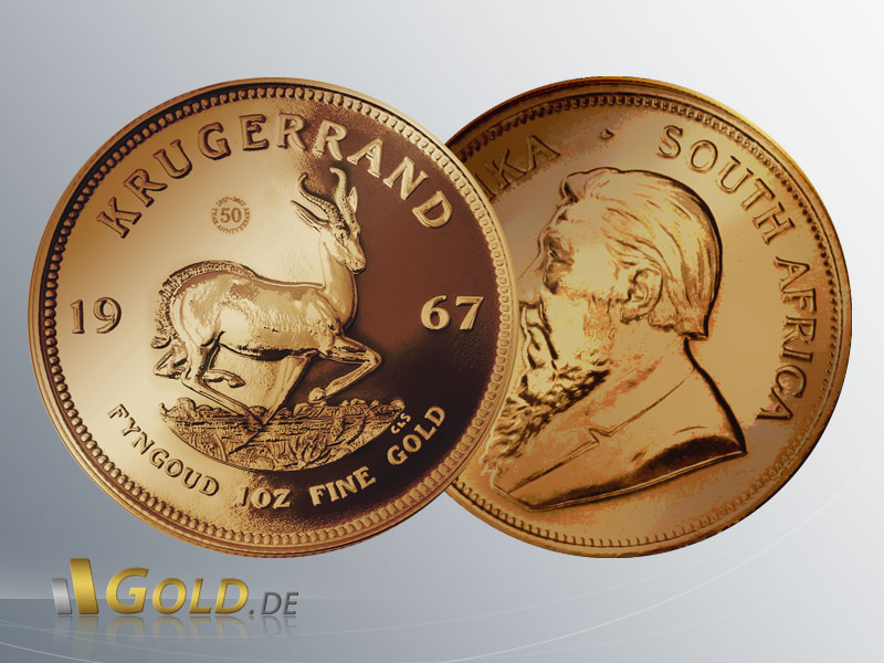 Krügerrand Vintage 1967 Proof 1 oz Goldmünze