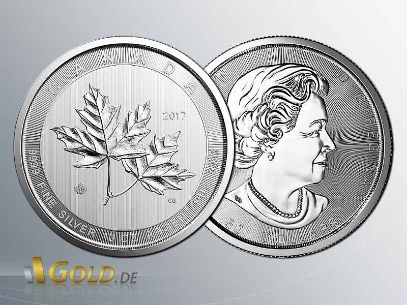 Maple Leaf 2017: Magnificent 10 oz Silbermünze