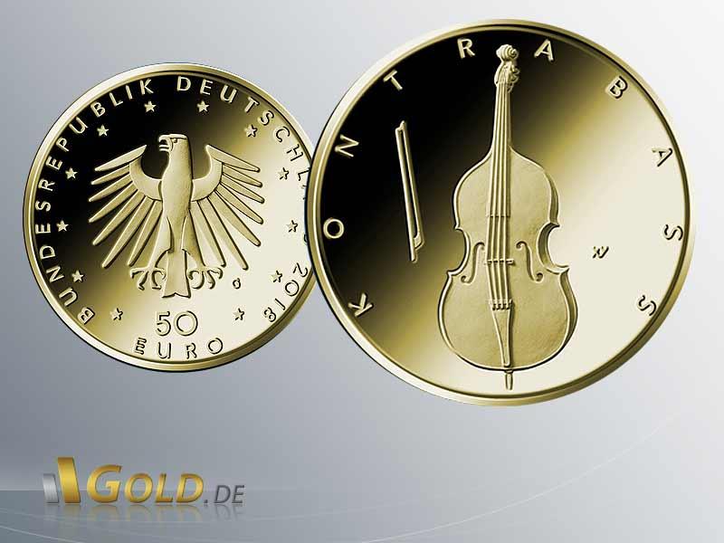 Goldmünzen Serie Musikinstrumente 2018 Goldeuro 14 Oz