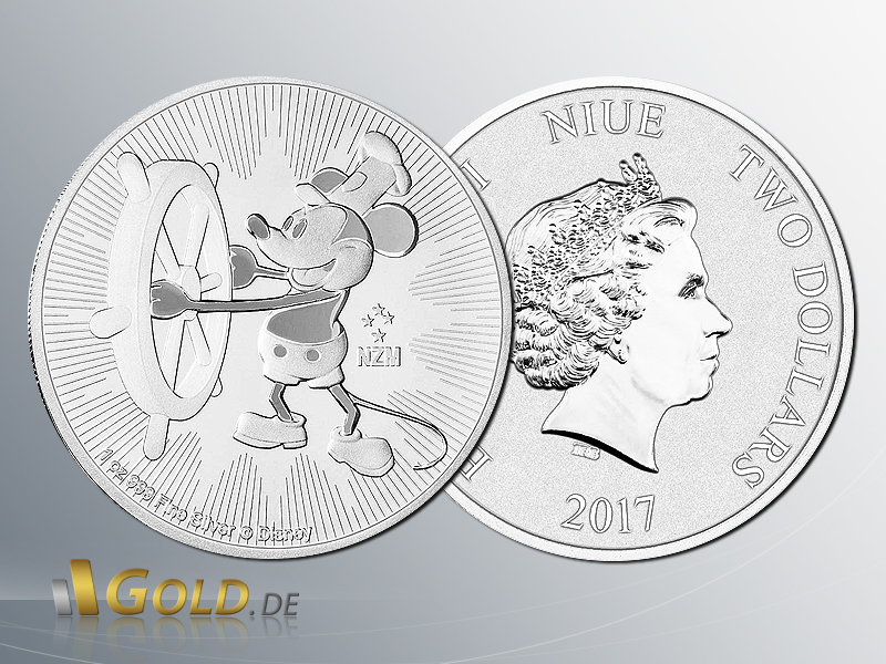 Steamboat Willie 2017 New Zealand Mint Neue Silber Bullionmünze