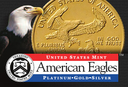 us eagle gold silver platin logo