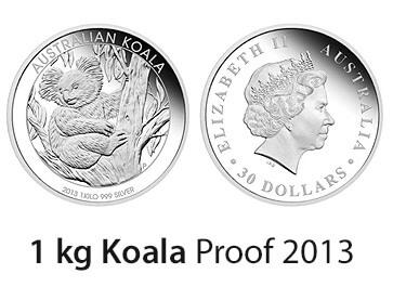 1 Kg Silber Proof Koala 2013 Neue 1 Kilo Silbermünze