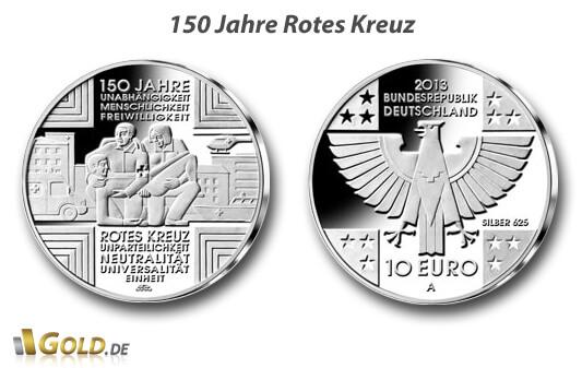 10 Euro Gedenkmünze 150 Jahre Rotes Kreuz
