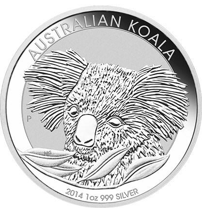 Koala 2014 Neue Silbermünze Aus Australien