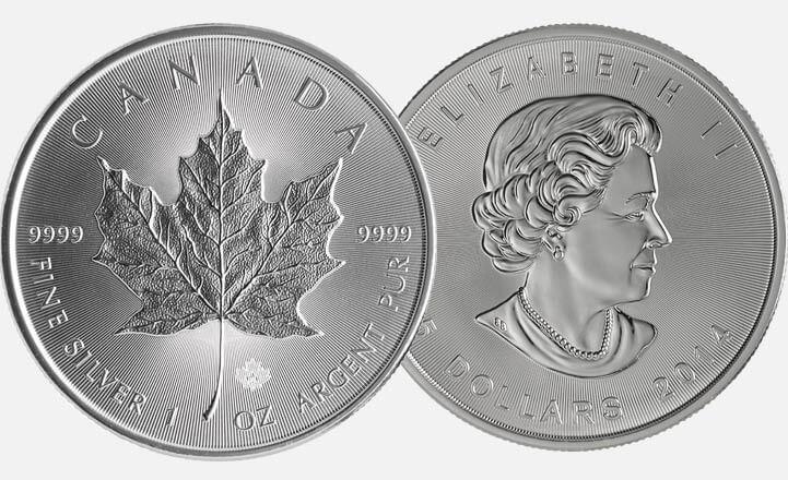 Sicherheitsmerkmal Für Maple Leaf Silber Ab 2014