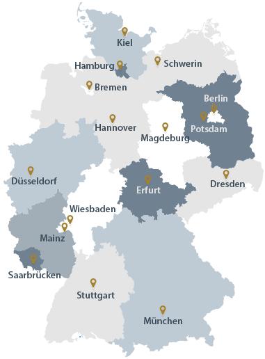 Karte Deutschland Goldankäufer