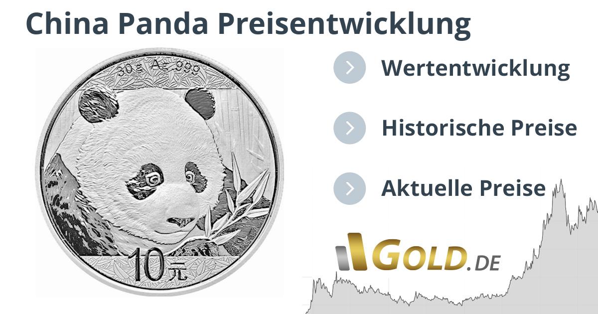 Preis China Panda 30 G Silbermünze Preisentwicklung