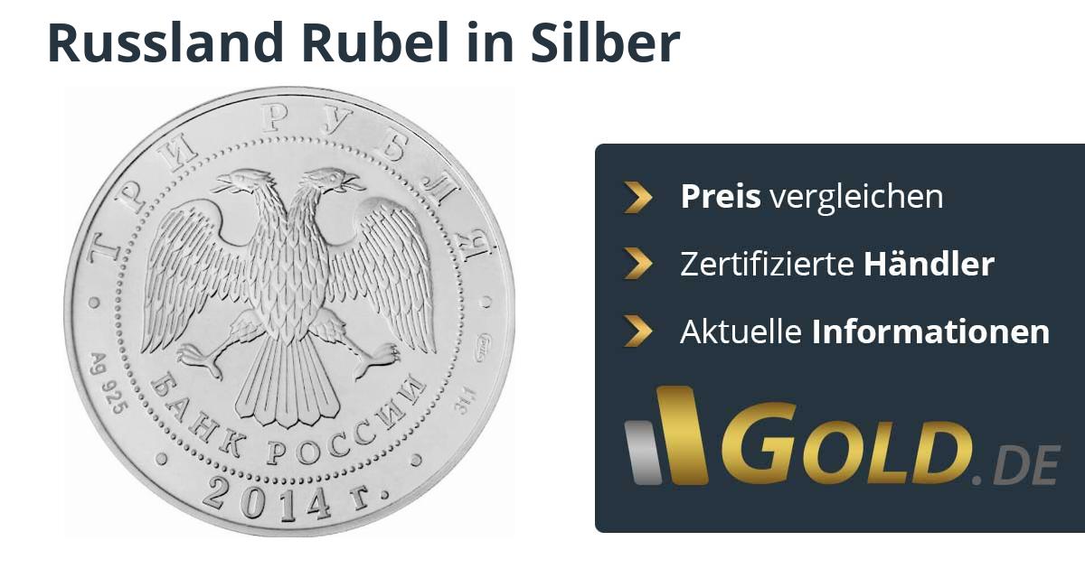Russland Rubel Silbermünzen
