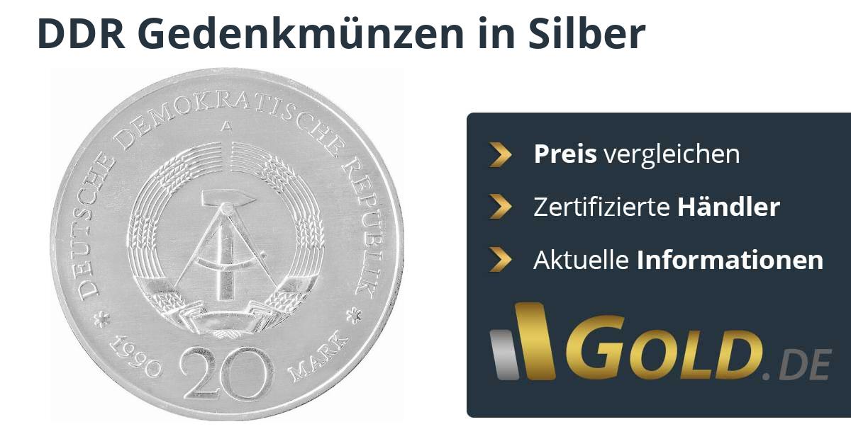 Ddr Gedenkmünzen Silbermünze Kaufen Goldde