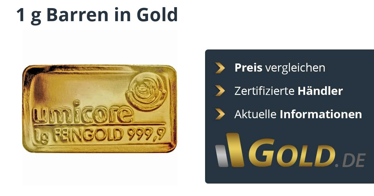 1g Goldbarren Kaufen Preis Vergleichen Mit Der Nr1 Goldde