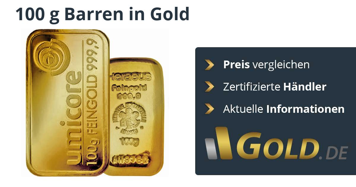 100g Goldbarren Kaufen Preis Vergleichen Mit Der Nr 1 Goldde