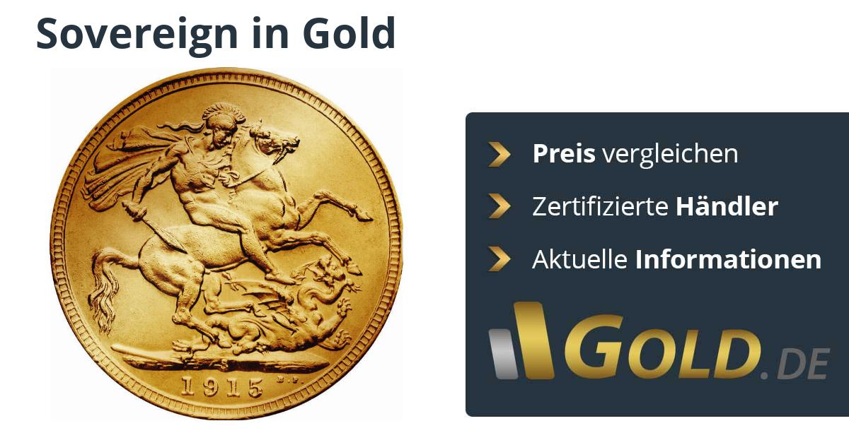 Sovereign Goldmünze Kaufen Vergleiche Preise Mit Der Nr1 Goldde