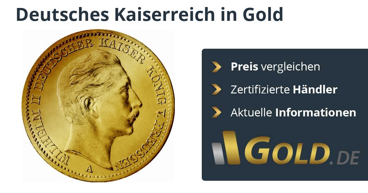Deutsches Kaiserreich Goldmünzen Kaufen 20 Reichsmark Goldde