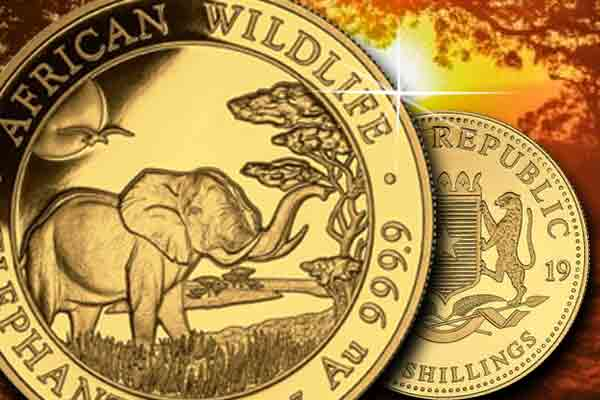 Neu im Preisvergleich - Somalia Elephant 1/4 oz und 1/2 oz Gold