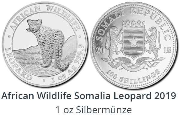 1 oz Somalia Leopard 2018