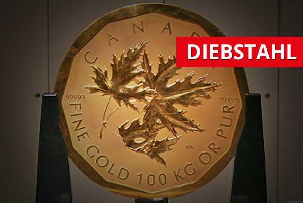 100 kg Goldmünze Maple Leaf  Diebstahl: Festnahmen nach Razzia