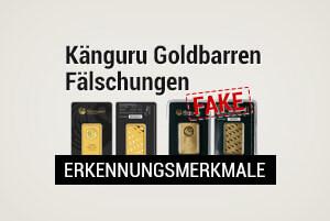 Känguru Goldbarren Fälschungen: Was sind die Erkennungsmerkmale?