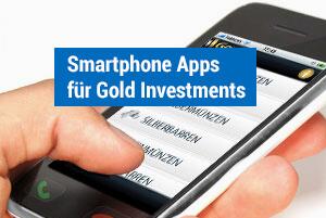Smartphone Apps für Gold Investments