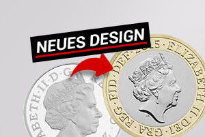 Neues Design: Queen Elisabeth II. Portraits auf Münzen