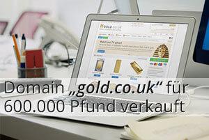 Domain gold.co.uk für 600.000 Pfund verkauft