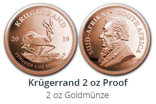 Krügerrand 2 oz 2019 Proof