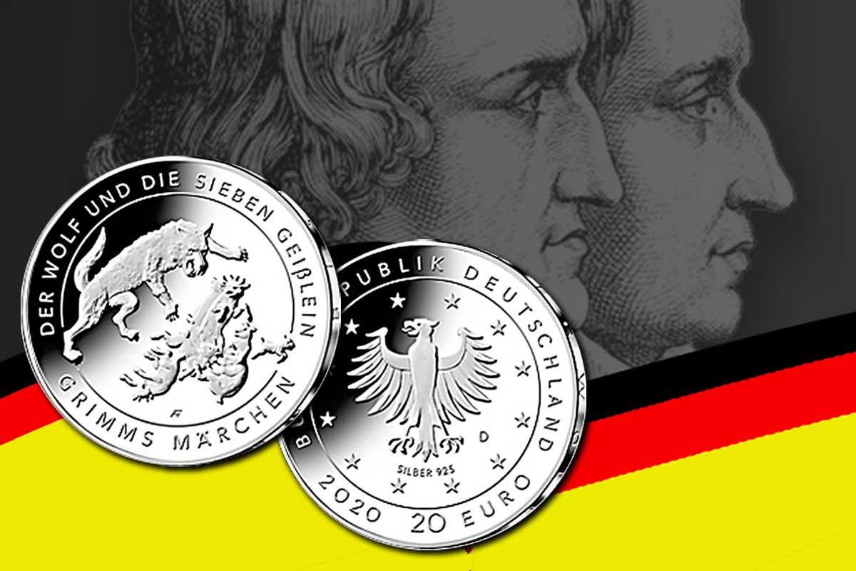 """20-Euro-Silbermünze """"Der Wolf und die sieben Geißlein"""" - Jetzt neu!"""