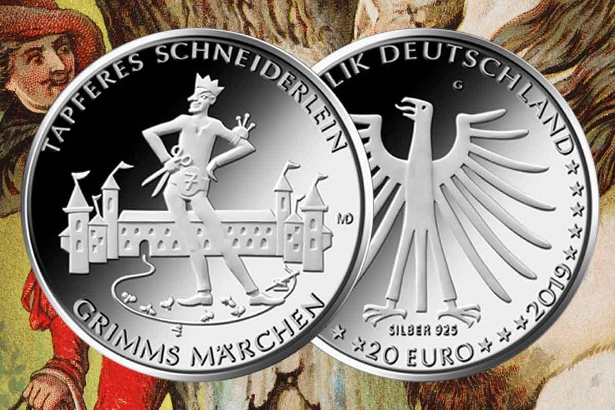 Tapferes Schneiderlein: Neue 20 Euro Gedenkmünze Silber