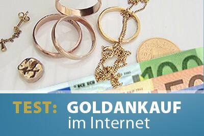 Goldankauf im Internet - 5 Anbieter im Test, Erfahrungen