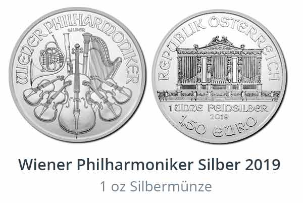 Neu: Wiener Philharmoniker 2019 in Silber