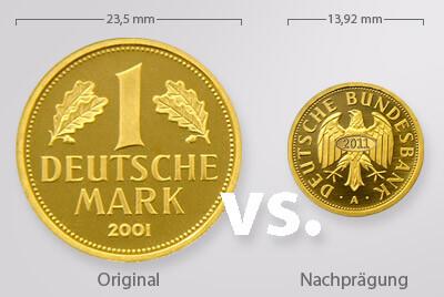 Neue Goldmark Nachprägung - Vorsicht Verwechslungsgefahr