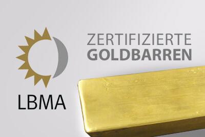 Was sind LBMA-zertifizierte Hersteller von Goldbarren?