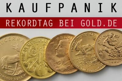 Rekordtag bei Gold.de - Händler teilweise völlig überlastet