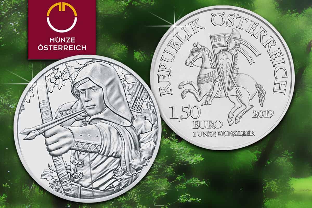 Neu: Robin Hood - 850 Jahre Münze Wien - 1 oz Silbermünze aus Österreich