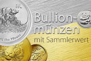 Bullionmünzen mit Sammlerwert: Teils hohe Wertsteigerung