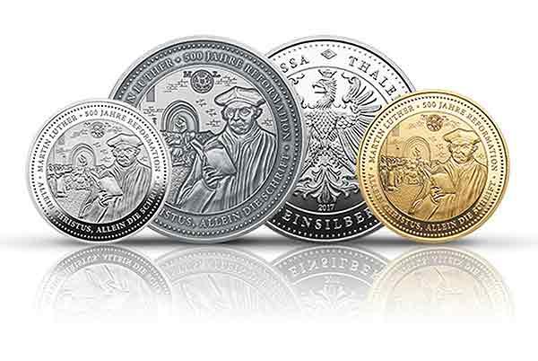 Degussa würdigt mit Jubiläumsthaler in Gold und Silber Martin Luther