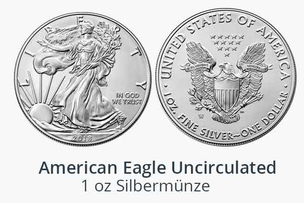 Silver Eagle Uncirculated 1 oz 2018