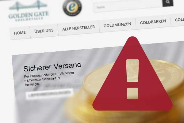 Warnung vor goldengategoldkaufen.de von Walter Edelmetalle GmbH