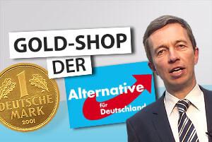AfD Gold-Shop: Alternative für Deutschland verkauft nun Gold