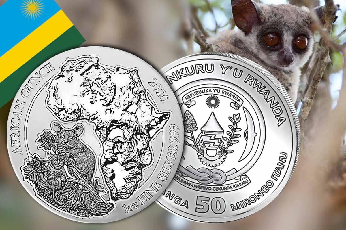 African Ounce Ruanda Bushbaby 2020 in Silber - Jetzt neu!