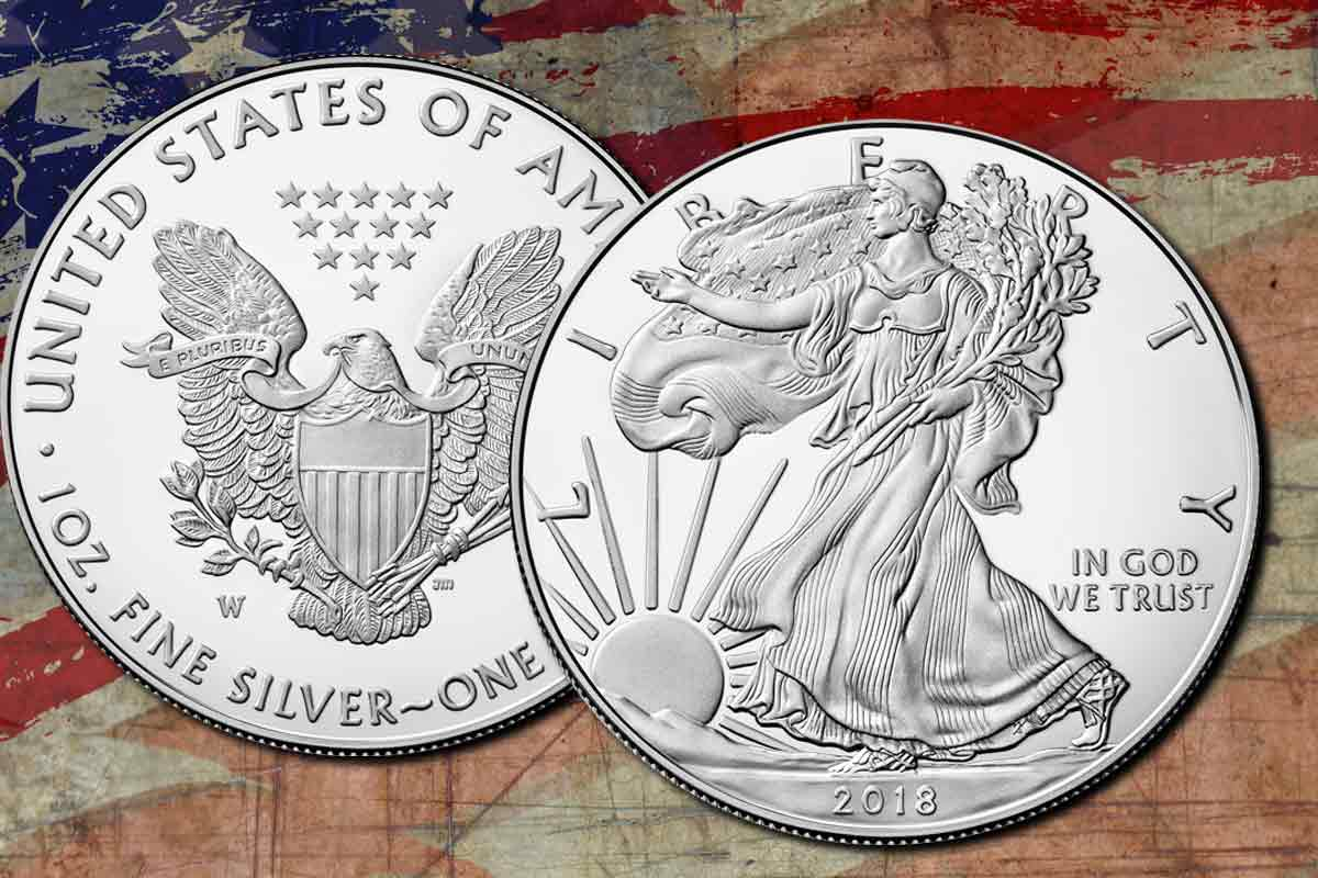 American Silber Eagle Uncirculated 2019