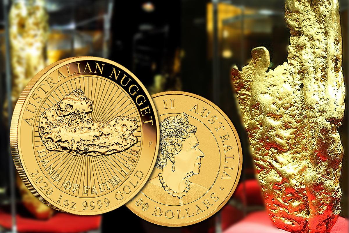 Australian Nugget 2020 Gold - Hand of Faith: Jetzt vergleichen!