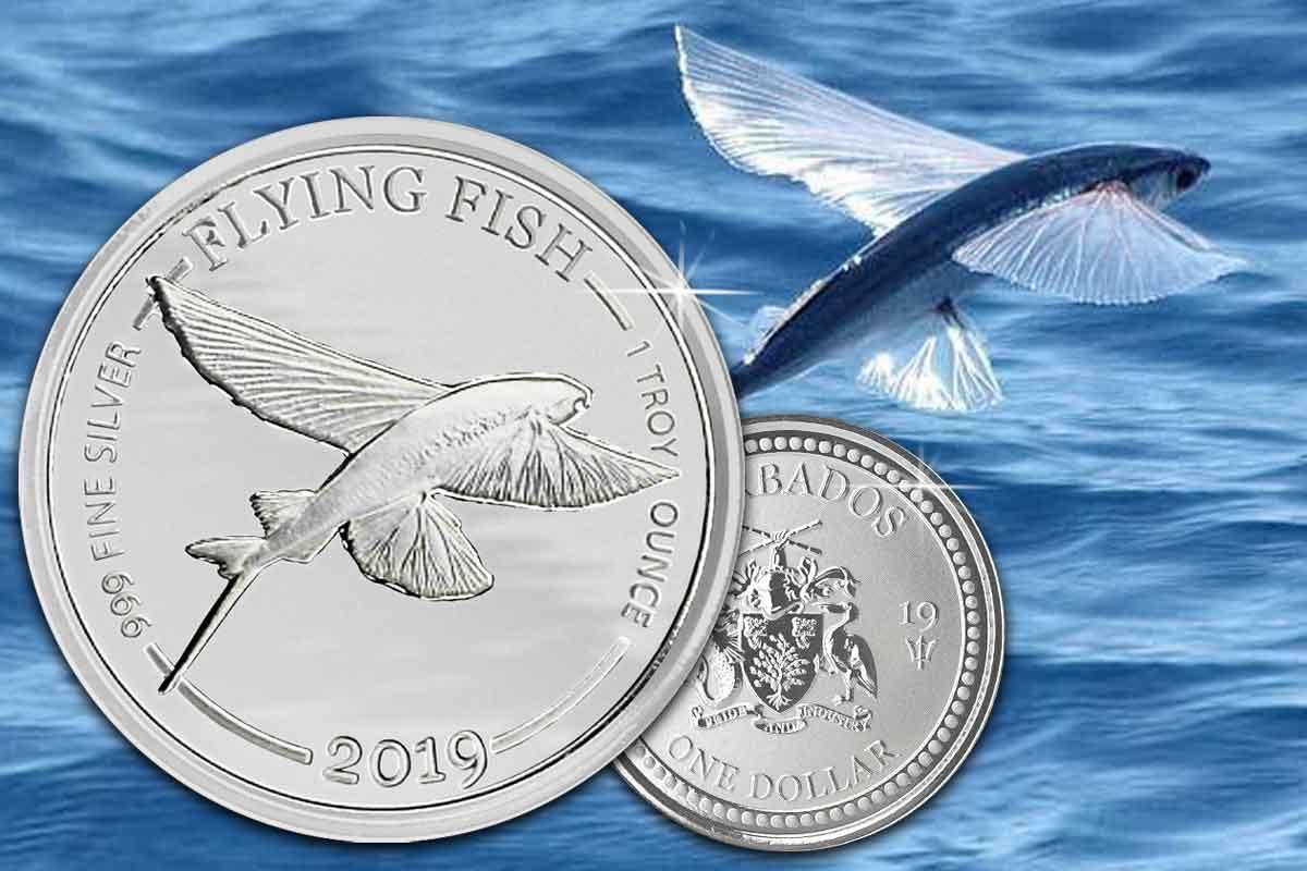 Barbados Flying Fish 2019 Silber