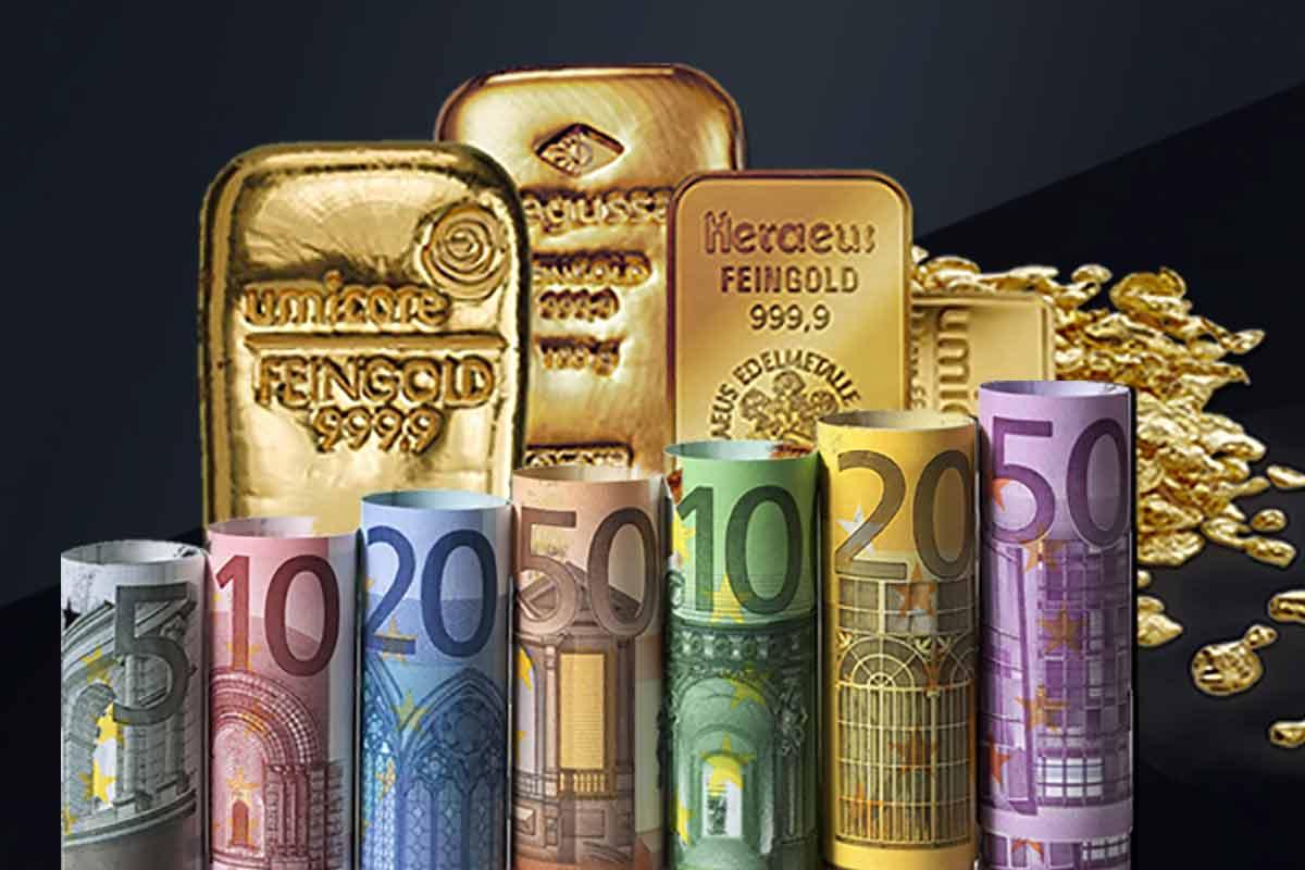 Bargeld und Gold