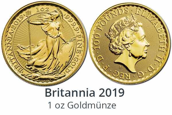 Britannia Goldmünzen 2019