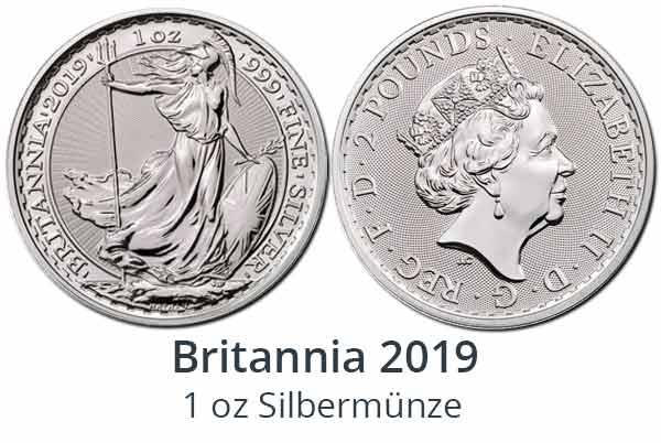 Britannia 2019 Silbermünze
