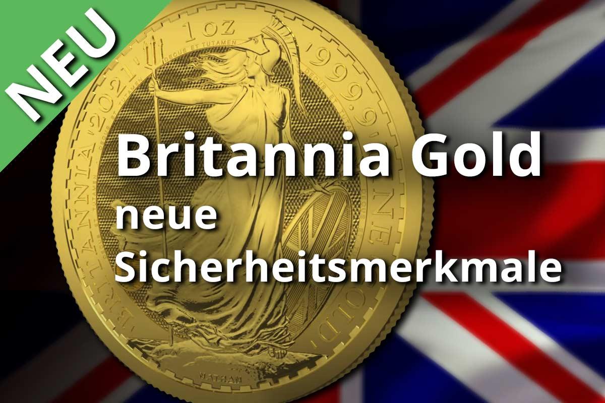 Britannia Goldmünze mit neuen Sicherheitsmerkmalen