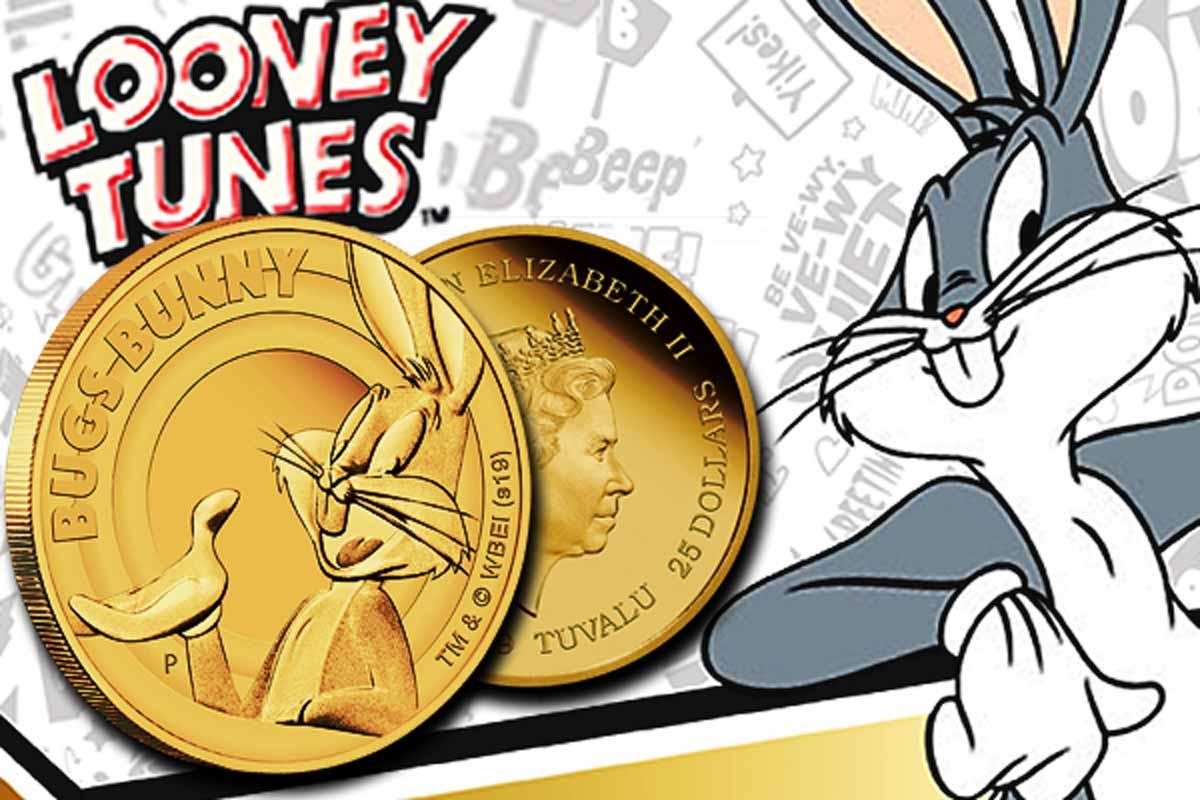 Looney Tunes Bugs Bunny 1/4 oz Gold - Geschenkidee für Ostern